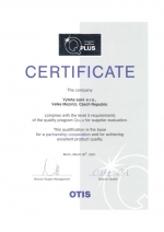 certifikat q plus otis