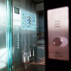 Kabina osobního výtahu zámek Valeč