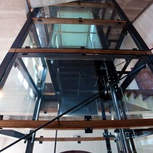 Umístění výtahu zámek Valeč