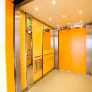 Kabina osobního výtahu v Třebíči na Vysočině