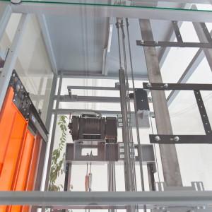 Prosklený výtah v Třebíči