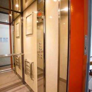 Kabina proskleného výtahu v Třebíči